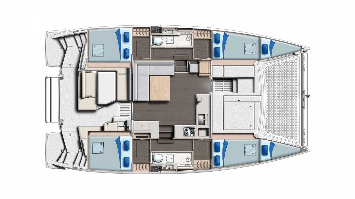 Sunsail 404Layout
